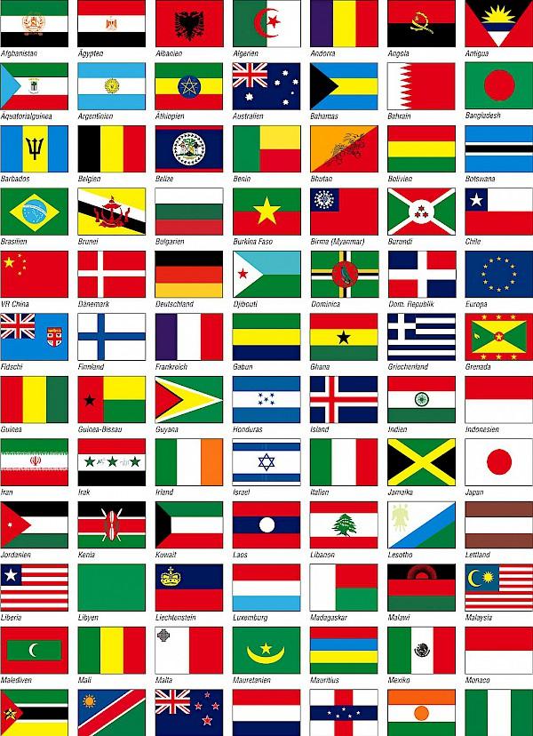 Landesfahnen Weltweit